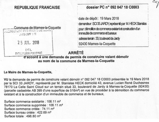 Bd Sur Jardy D 33 Construire L'arrêté De Questions Permis BxeCod